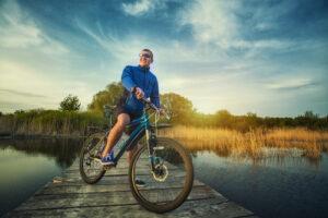 Biking by the water