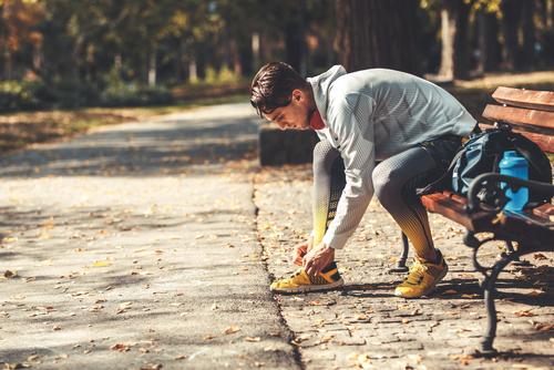 Man going for a run after LASIK eye surgery